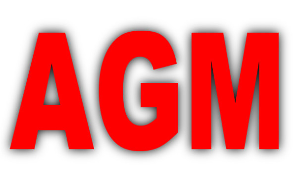 Annual General Meeting 9th September 2018 @ 3pm