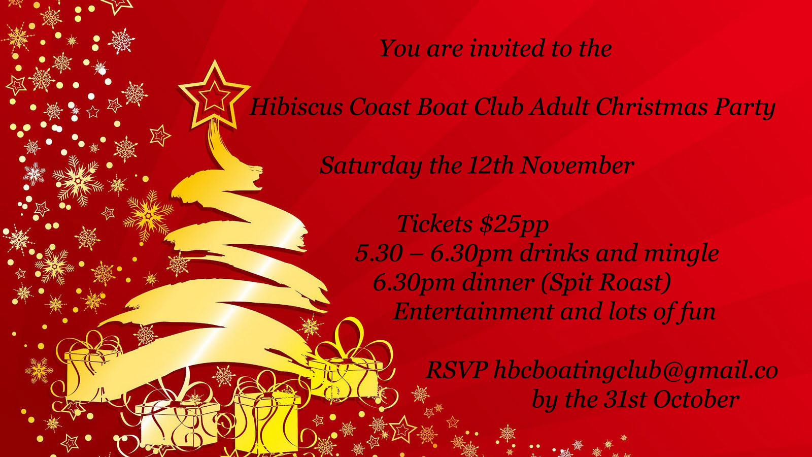 2016 Adult Christmas Party | Hibiscus Coast Boating Club Inc